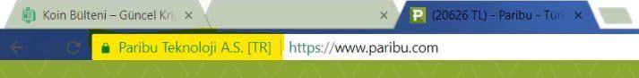 Paribu SSL Sertifikası Kontrolü