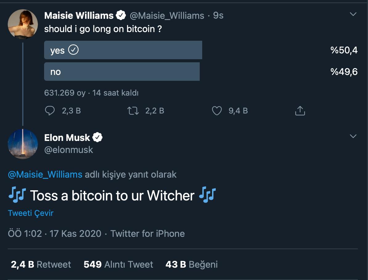 elon-musk-maisie-williams-twitter-bitcoin