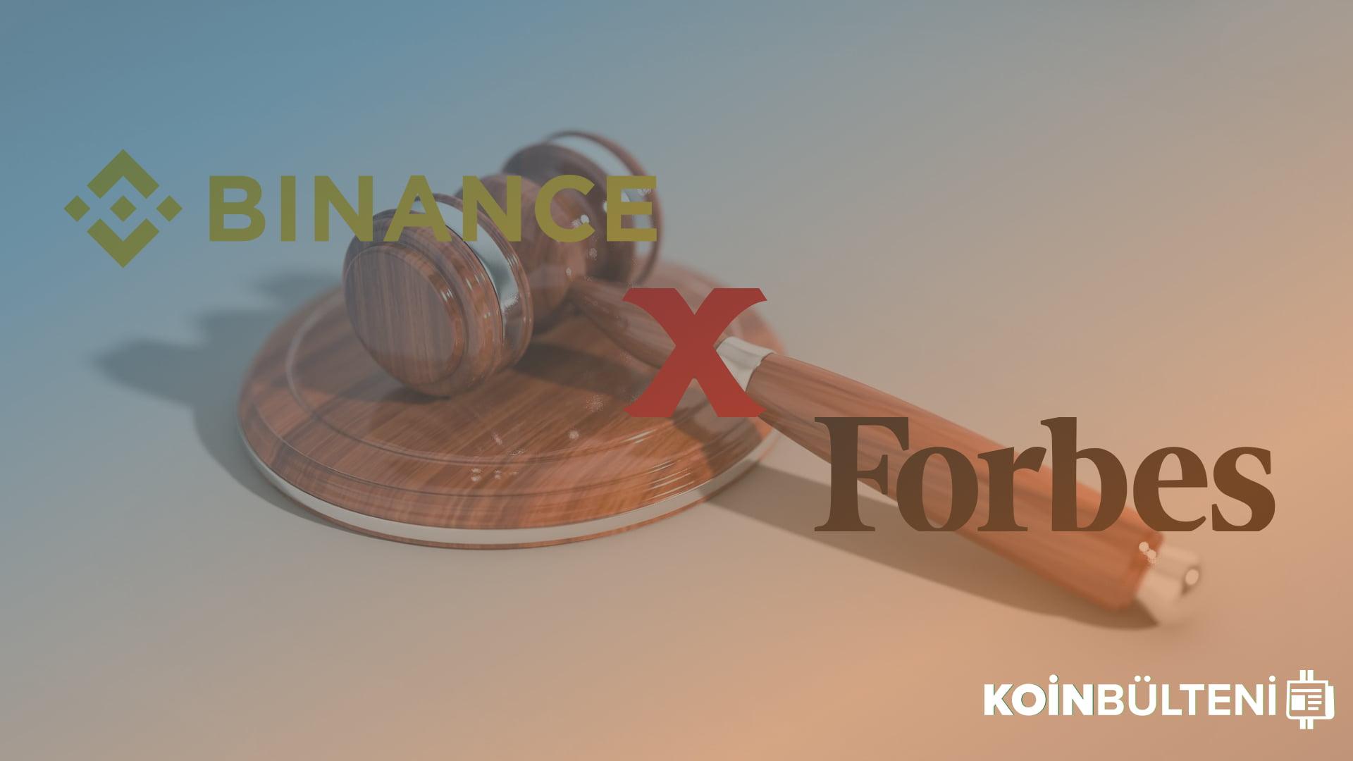 binance-forbes-davasi