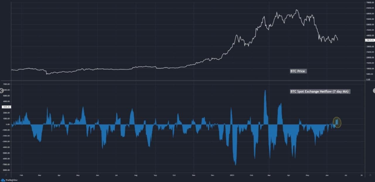 bitcoin-spot-mean-flow