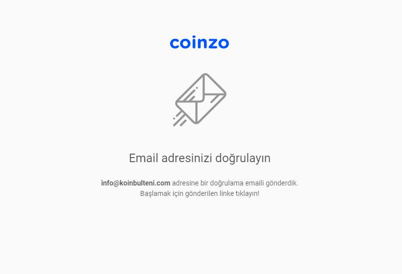 coinzo kripto para borsası mail onayı